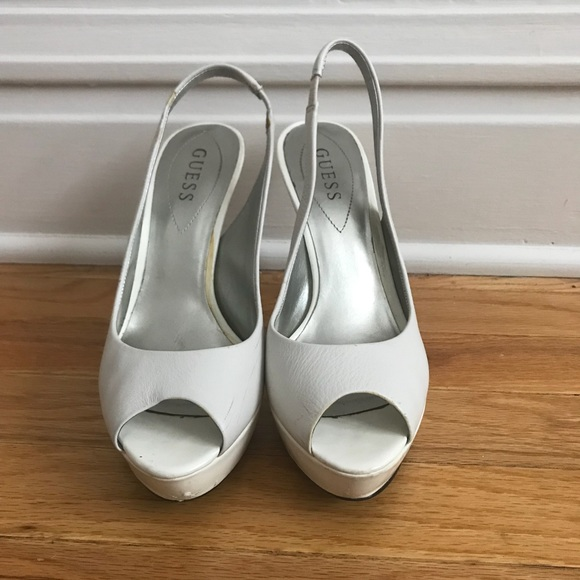 Guess Shoes   White Pump   Poshmark